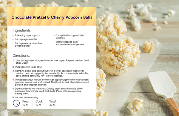 Popcorn Ball Recipe Card