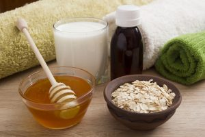 ingredients for homemade skin care.